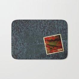 Grunge sticker of Albania flag Bath Mat