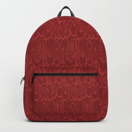 Melbourne typography - chile oil red Backpack