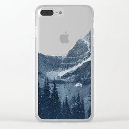 Transparent Snowy Mountains Clear iPhone Case