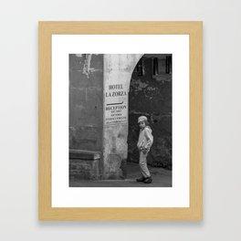Alone in Cinque Terre Framed Art Print