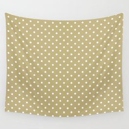 Dots (White/Sand) Wall Tapestry