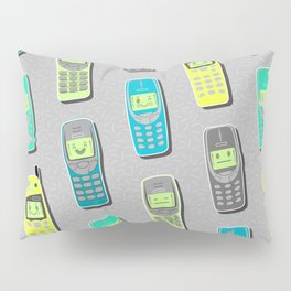 Vintage Cellphone Pattern Pillow Sham