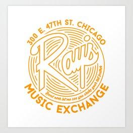 Ray's Music Exchange Art Print