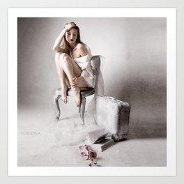 The white bird Art Print