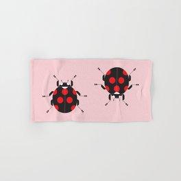 Ladybug Pink Hand & Bath Towel