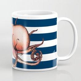 Orange Floating Octopus Coffee Mug