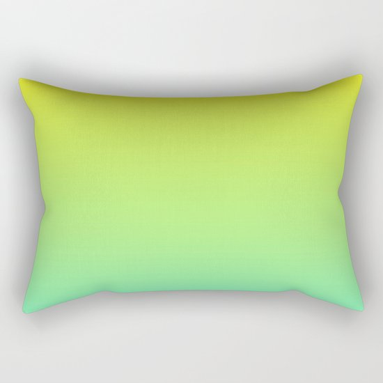 Ombre gradient illustration yellow blue green colors Rectangular Pillow