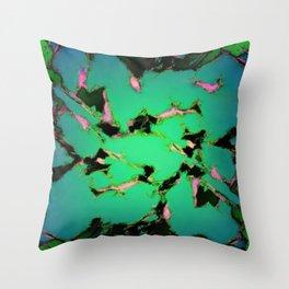An interrupted glow Throw Pillow
