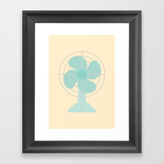#86 Fan Framed Art Print