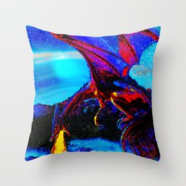DRAGON VISIONS DREAMS AND STARS Throw Pillow