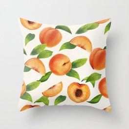 Peachy Peaches Throw Pillow