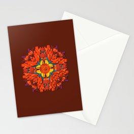 red round accumulation Stationery Cards