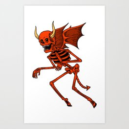 Devil Angel Art Print