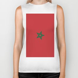 Flag of Morocco Biker Tank