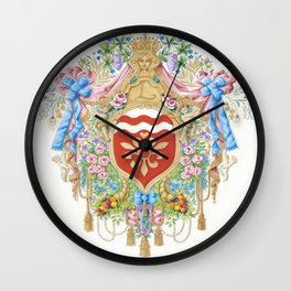 Versailles-style arms of the Chevalier d'Orleans Wall Clock