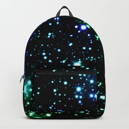 Brilliant Blue Green Galaxy Space Stars Backpack