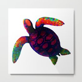 Turtle Magenta jGibney The MUSEUM Society6 Metal Print