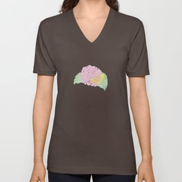 Hydrangeas and Butterflies - Such A Perfect Summer Day Unisex V-Neck
