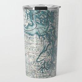Puget Sound Map Travel Mug