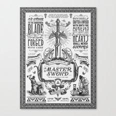Legend of Zelda Vintage Master Sword Advertisement Canvas Print