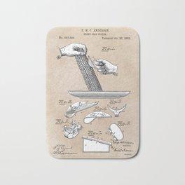 Anderson green corn cutter 1883 patent art Bath Mat