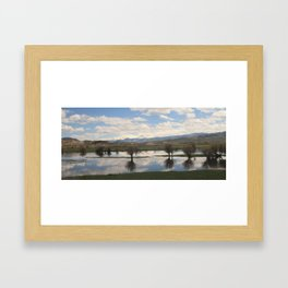 Cross Country American Landscapes - Clouds, Reflections, Marshes, and Mountains (2) Framed Art Print