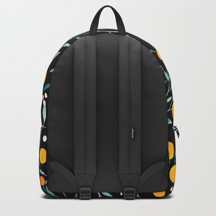 Oranges Black Backpack