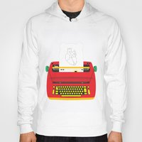 typewriter Hoodies featuring Typewriter by EinarOux