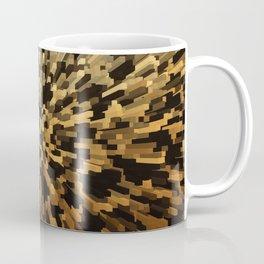 Gold and black 3d blocks Coffee Mug