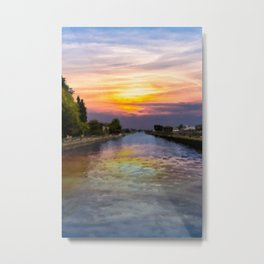 Ballard Locks at Sunrise Metal Print