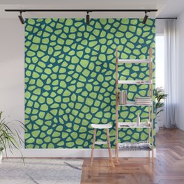 Abstract Leaves Pattern Wall Mural