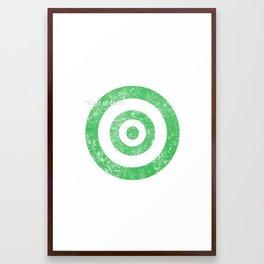 Target of desire - green Framed Art Print