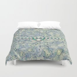Smokey Pattern with Pearls Duvet Cover