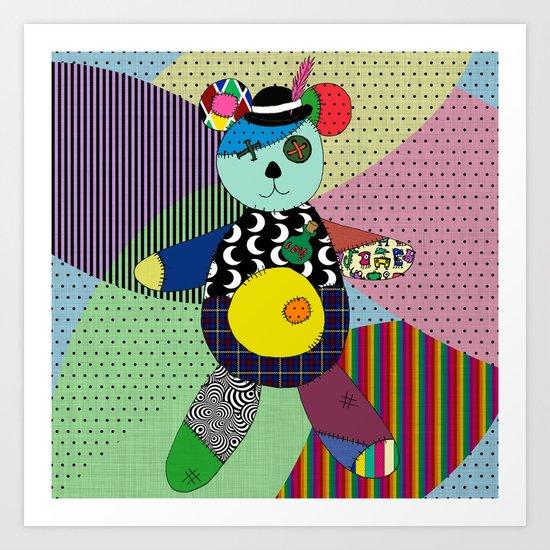 Voodoo Ted Art Print