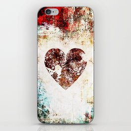 Vintage Heart Abstract Design iPhone Skin