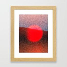 Unset Framed Art Print