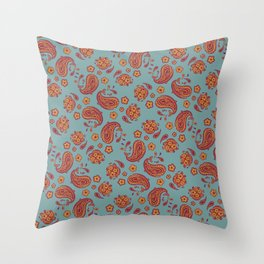 Improbability Paisley Throw Pillow