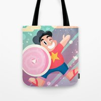 steven universe Tote Bags featuring Steven by Viga Victoria Gadson