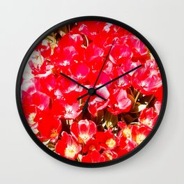 Red my color, my blood. Wall Clock