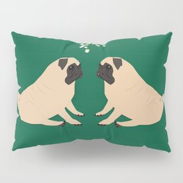 Pug Mistletoe Pillow Sham