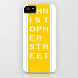 Christopher Street - NYC - Yellow iPhone Case