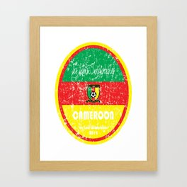 World Cup Football - Cameroon (Distressed) Framed Art Print