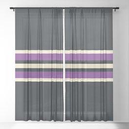 Classic Retro Stripes Asagi Sheer Curtain