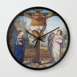 Cruci Teddy (Teddy of the Angels, King of the Teddy Bears) Wall Clock