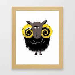 Missfits Ram Framed Art Print