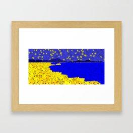 Golden Naples Framed Art Print