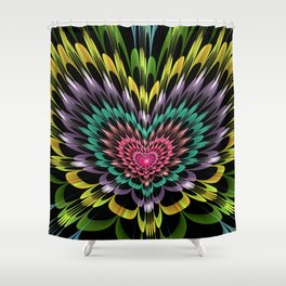 My heart explodes for you Shower Curtain