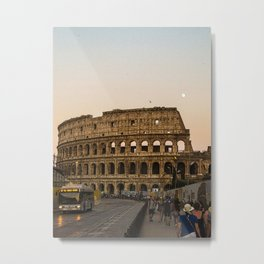 The Colosseum and the full moon Metal Print