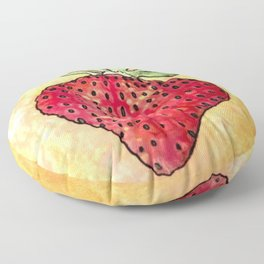 Strawberry (outlined) Floor Pillow