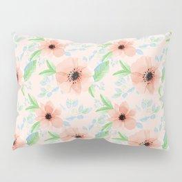 Peachy floral pattern Pillow Sham